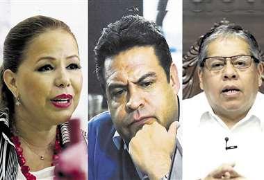 Angélica Sosa, Luis Revilla e Iván Tellería, alcaldes salientes