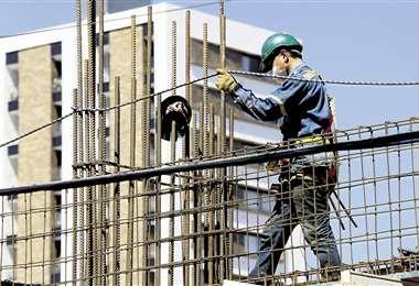 Construcción de edificio /Foto: Jorge Ibáñez