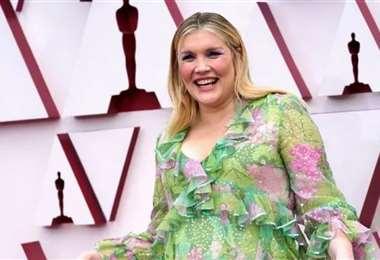 Ella se llevó el primer Óscar de la noche, a mejor guión original