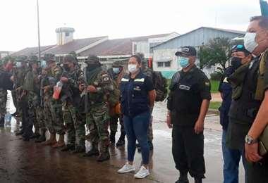 Foto Bolivia Tv: La Policía reforzó los controles en Santa Ana desde el fin de semana