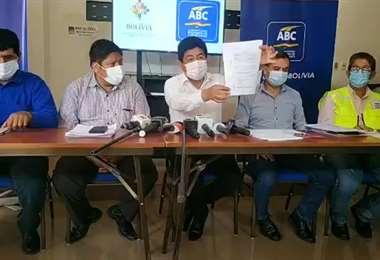 El ministro llamó al diálogo a los transportistas/Foto: ABI