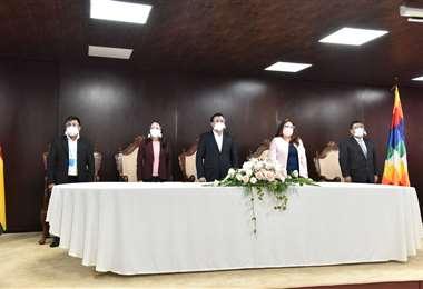 Inauguración de la primera etapa del Expediente Judicial Electrónico. Foto: TSJ