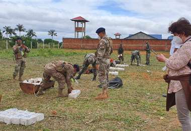 La Policía secuestró la droga en el departamento de Beni