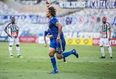 Marcelo Martins marcó su último gol en Cruzeiro el 14 de marzo. Foto: Cruzeiro