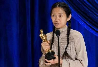 Chloé Zhao agradece por el Óscar a la mejor película a Nomadland