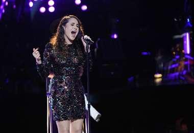 Carolina Rial en el escenario de The Voice