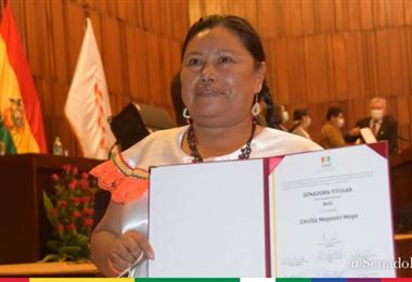 Cecilia Moyoviri es senadora por el Tipnis