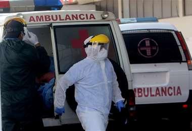Foto Jorge Ibáñez: Las unidades de terapia intensiva están saturadas en la ciudad