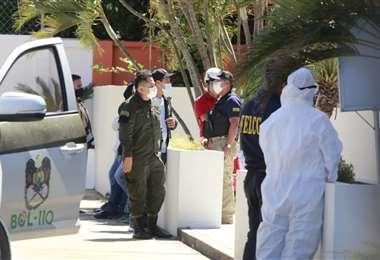 Foto Juan Carlos Torrejón: los cuerpos fueron llevados a la morgue de la Pampa de la Isla
