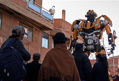 FOTOS: APG / La réplica boliviana mide siete metros y pesa una tonelada