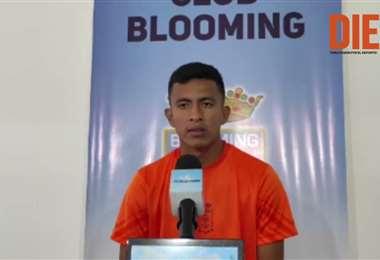 Hugo Rojas, extremo de Blooming. Video: Club Blooming