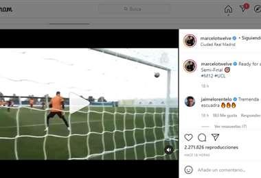Captura de pantalla del video que publicó Marcelo en Instagram