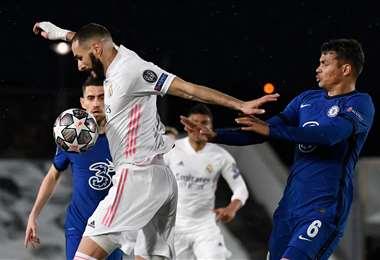 Benzemá marcó el gol del empate para Real Madrid. Foto: AFP