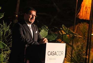 Quito Velasco en la apertura de la octava versión de CasaCor