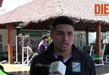 Daniel Rojas, mediocampista de Oriente Petrolero. Video: Club Oriente Petrolero