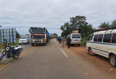 Foto Jorge Huanca: el bloqueo fue levantado luego del mediodía de este miércoles