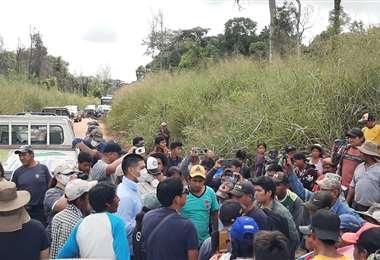 Los interculturales bloquearon y exigieron ser incluidos en el área protegida
