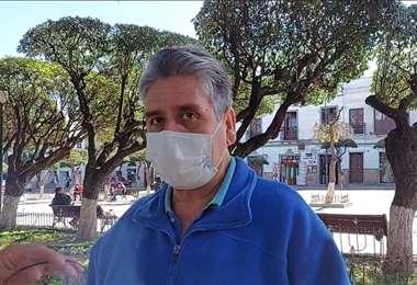 Róger Amador, dirigente cívico de Chuquisaca