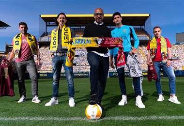 El boliviano Juan Manuel Peña protagoniza la campaña de motivación. Foto: Club Villarreal
