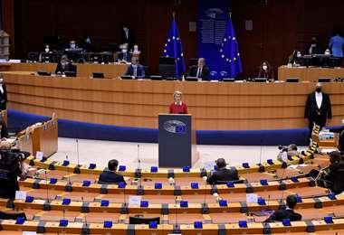 Ursula von der Leyen elogió la votación. Foto AFP