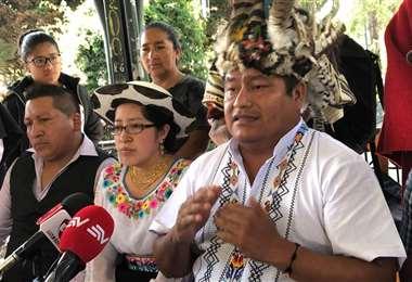 Jaime Vargas dijo que el Conaie apoyará a Arauz/Foto:El Universo
