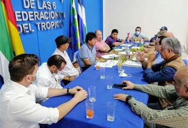 Productores del sector cárnico reunido con Morales