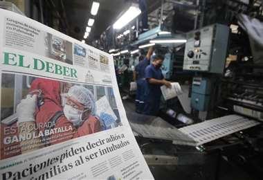 Espera la edición de EL DEBER para mañana sábado. Foto: Ricardo Montero