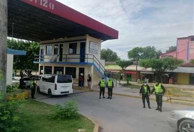 Controles policiales en la frontera de Puerto Suárez