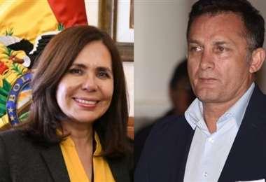 Foto: Karen Longaric (iz) y Fernando López (dr)