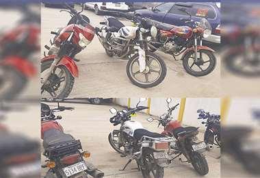 Las motocicletas secuestradas
