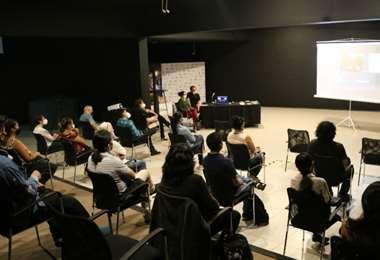 Desarrollo de la primera jornada de la Escuela de Espectadores, en el CCP