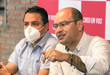 Erwin Bazán, vocero de Creemos. Foto. Nicolás Fernández
