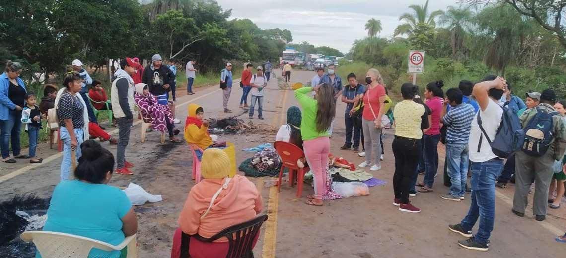 La central Ayorea reclama el reconocimiento a sus dirigentes. Foto: J. Huanca