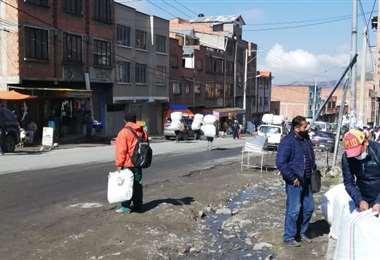 Este martes volvió la venta de coca en Kalajahuira (Foto: RRSS)