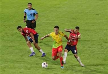 Wilstermann derrrotó por 2-1 a Palmaflor en el duelo de ida. Foto: APG