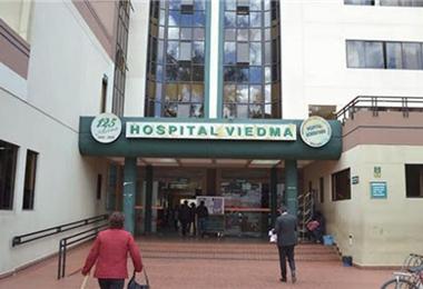 Hospital Viedman, de Cochabamba, donde murió una mujer. Foto. Internet