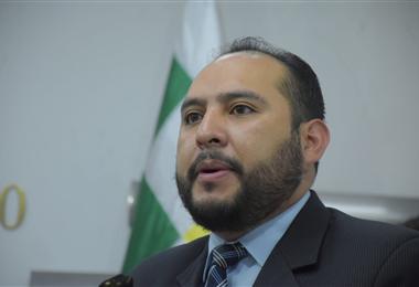 Roberto Ríos, viceministro de Seguridad Ciudadana. Foto. APG