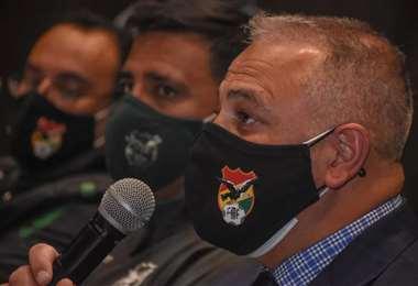 Farías y Costa en una pasada conferencia de prensa. Foto: Marka Registrada