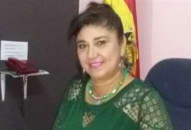 Alcaldesa de Guayaramerín, Helen GOrayed, permanece en La Paz en busca de ayuda. Archivo