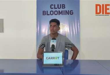 Julio Herrera, mediocampista de Blooming. Video: Club Blooming