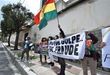 Suspendieron la vigilia de apoyo a Áñez por el auto de buen gobierno. Foto: APG