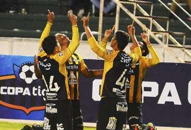 The Strongest en el empate ante Independiente. Foto: APG