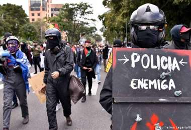 Protestas en Colombia. Foto: DW