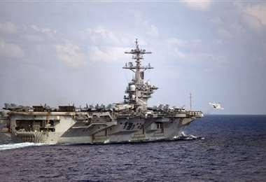 El buque que recibió los disparos. Foto: AFP