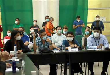 Comité de crisis continúa con su labor de prevención. Foto: GADSC