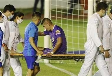 El defensor Ronald Eguino es duda en Real Potosí por lesión. Foto: APG Noticias