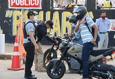 Foto Ministerio de Gobierno: los controles a motos empezaron este lunes