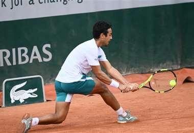 Hugo Dellien se enfrentará a uno de los favoritos en el Masters 1000 de Roma. Foto: FBT