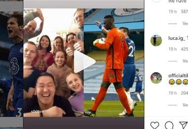 Captura de pantalla del video que publicó el Chelsea
