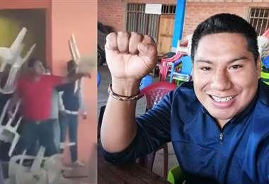 El incidente del ex candidato a diputado fue difundido en redes sociales